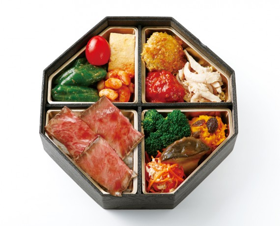 滋味あふれるお肉と土を知る野菜の味わいスペシャル弁当 2,376円(税込)