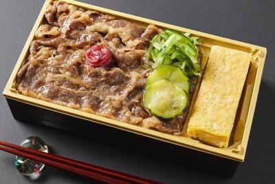黒毛和牛すき焼き弁当 1296円(税込)