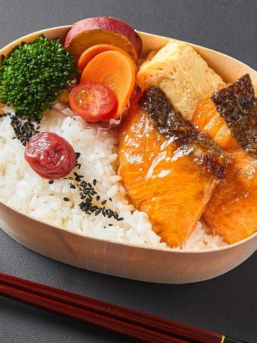石巻の銀鮭弁当 1188円(税込)