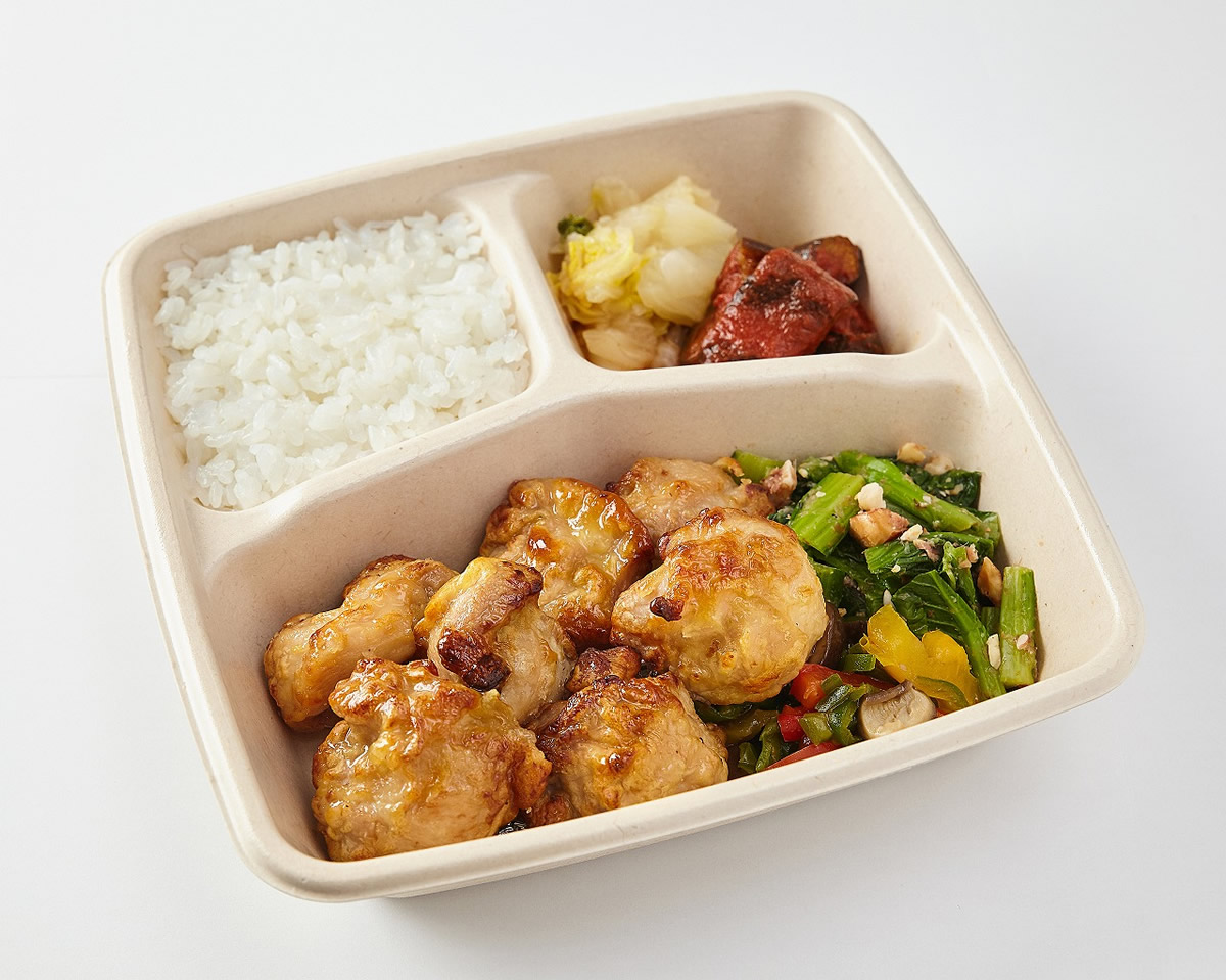 大山鶏の唐揚げ(ノンフライ)弁当