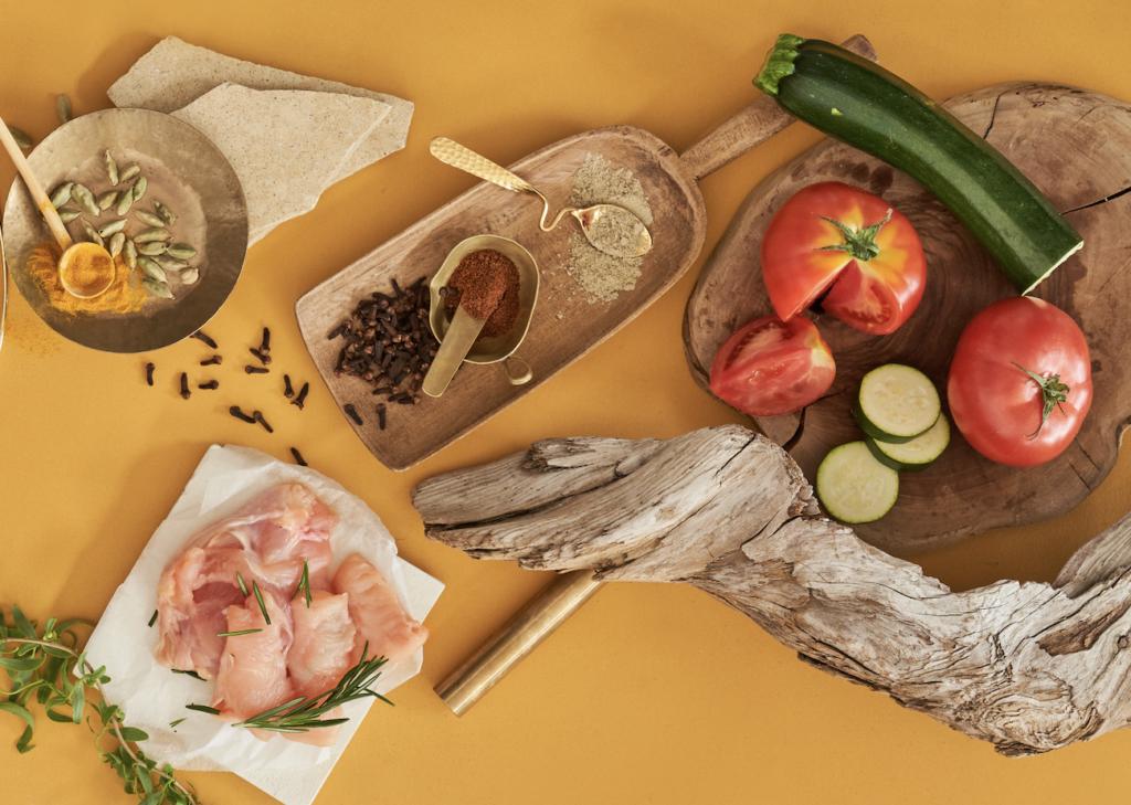 グリル野菜のカレーに使っている食材