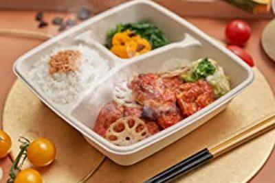 大山鶏の完熟トマトソース弁当 いろいろな野菜を添えて